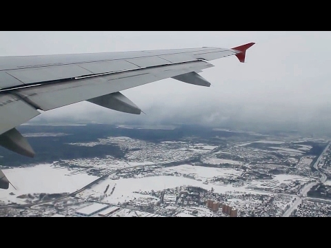 Aeroflot Russian Airlines SU211 A319 Moscow Sheremetyevo - Oslo Safety, Takeoff & Landing