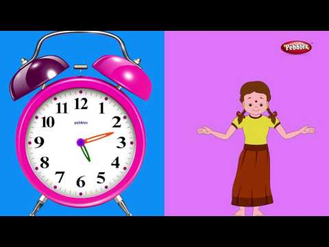 Ghadyalat Vajle Ek | घड्याळ मराठी कविता | Marathi Rhymes For Kids | Nursery Rhymes With Lyrics