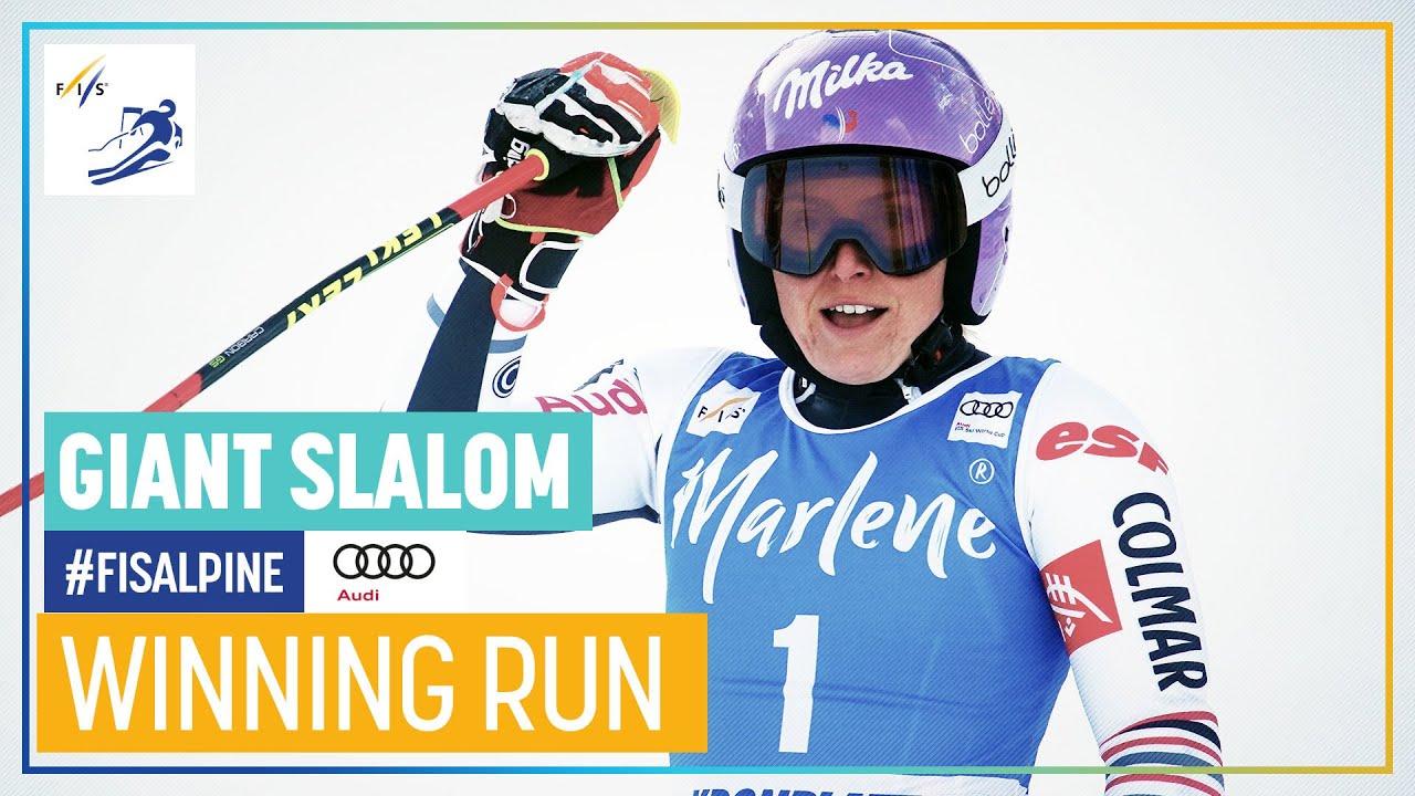 Tessa Worley Wins World Cup Giant Slalom in Kronplatz
