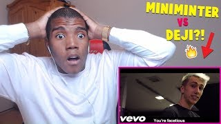 KSI'S LITTLE BROTHER - DEJI DISS TRACK BY MINIMINTER - REACTION! ( HE IS UNDERRATED! )