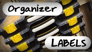 Ⓕ How To Make Hardware Organizer Labels (ep64)