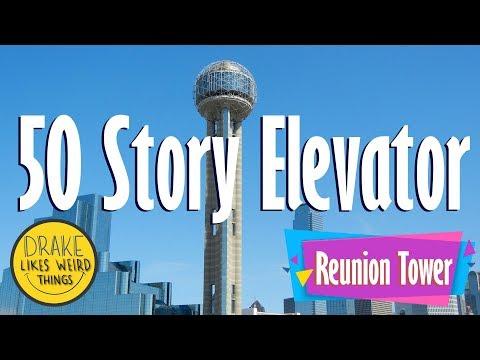 Toilet & Elevator Tour: Reunion Tower Dallas Texas