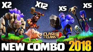 WITCH + HOGS: GOWIHO NEW TH9 STRONG WAR ATTACK STRATEGY 2017 | The New GOHO | Clash of Clans