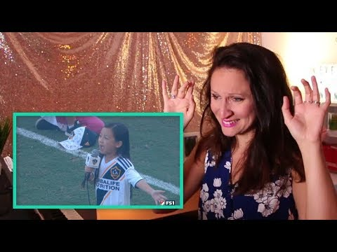 Vocal Coach REACTS to 7 Year-Old Crushes National Anthem!