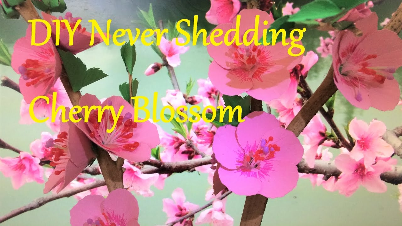 510542843 DIY Cherry Blossom : Paper Cherry Blossom : DIY paper flower tutorial :  FLOR DE CEREZO DE PAPEL