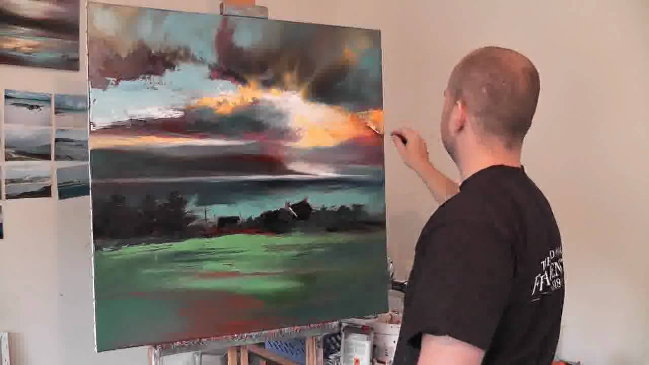Uig Sky Part2  Scottish Landscape Oil Painting Demo By