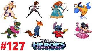 ГЕРОИ ДИСНЕЯ БОЕВОЙ РЕЖИМ  #127 видео игра мультик Disney Heroes Battle Mode СОСТАВЫ ОТ ПОДПИСЧИКОВ