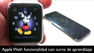Apple Watch funcionalidad pero con curva de aprendizaje