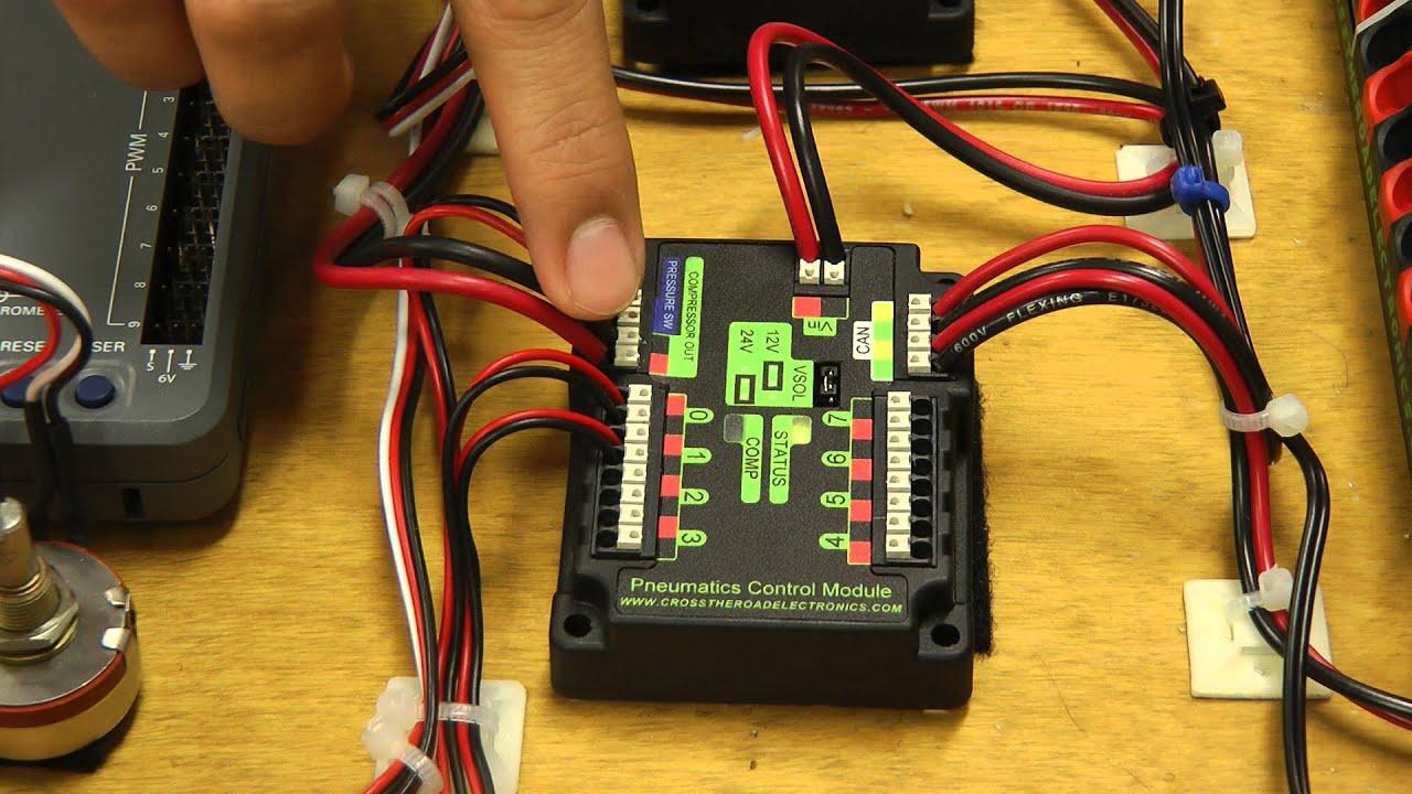 team 1114 beta test walkthroughs pneumatic control module youtube rh youtube com Air Pressure Switch Wiring frc pressure switch wiring