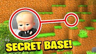 Minecraft: We Found THE NEW BOSSBABYS **SECRET** BASE (Ps3/Xbox360/PS4/XboxOne/PE/MCPE)