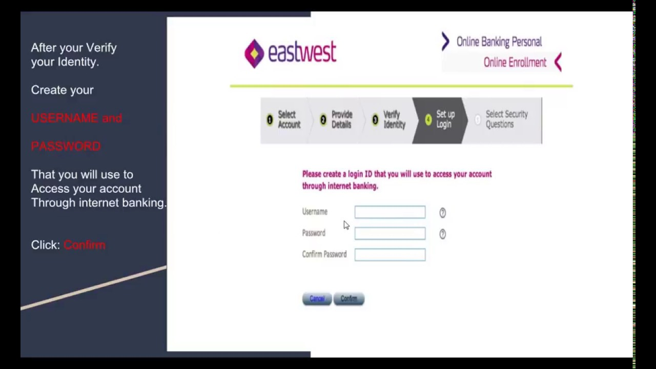 How To Register Online At Eastwest Bank Youtube