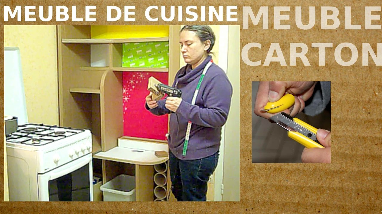 meuble en carton diy un meuble solide a faire pour la cuisine youtube. Black Bedroom Furniture Sets. Home Design Ideas