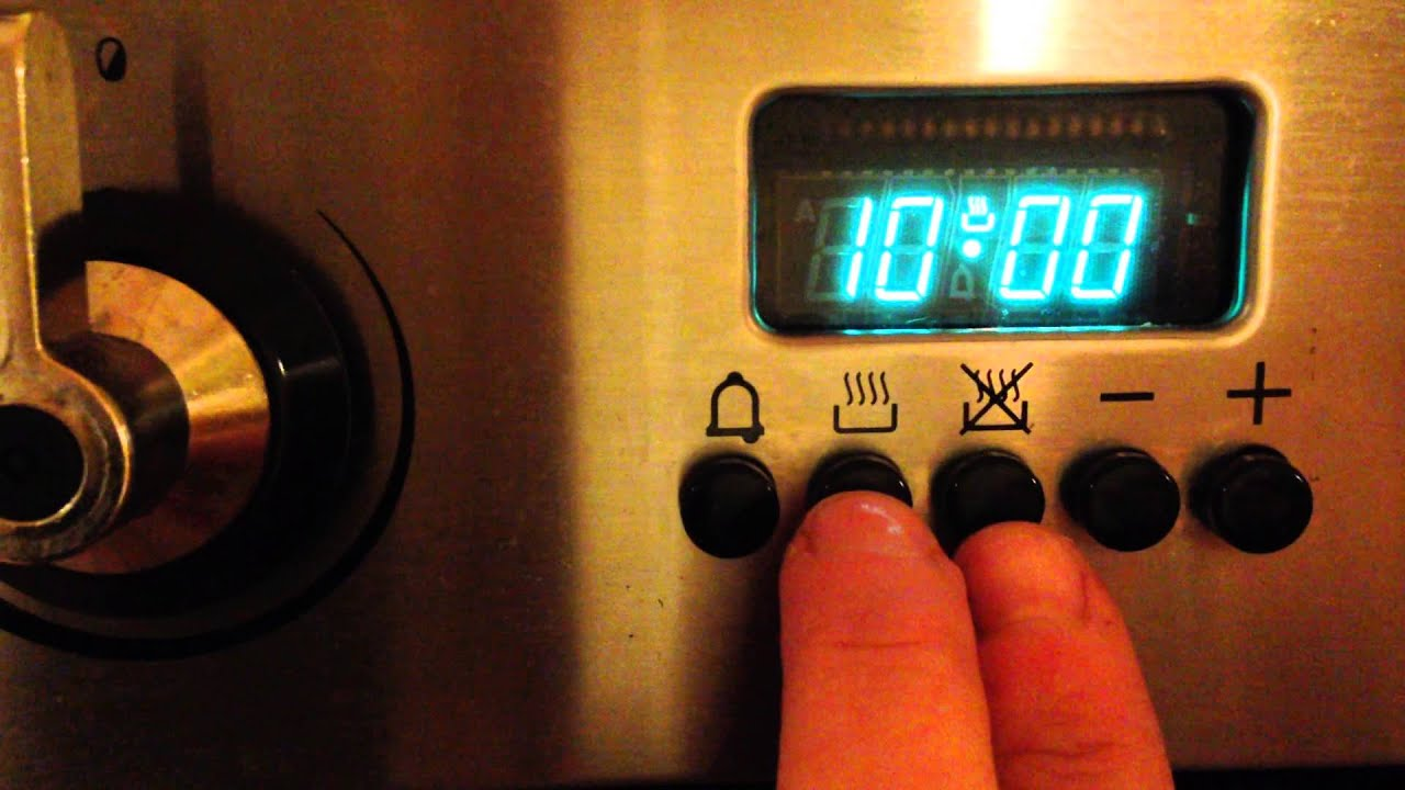 How To Reset The Clock On Smeg Oven YouTube