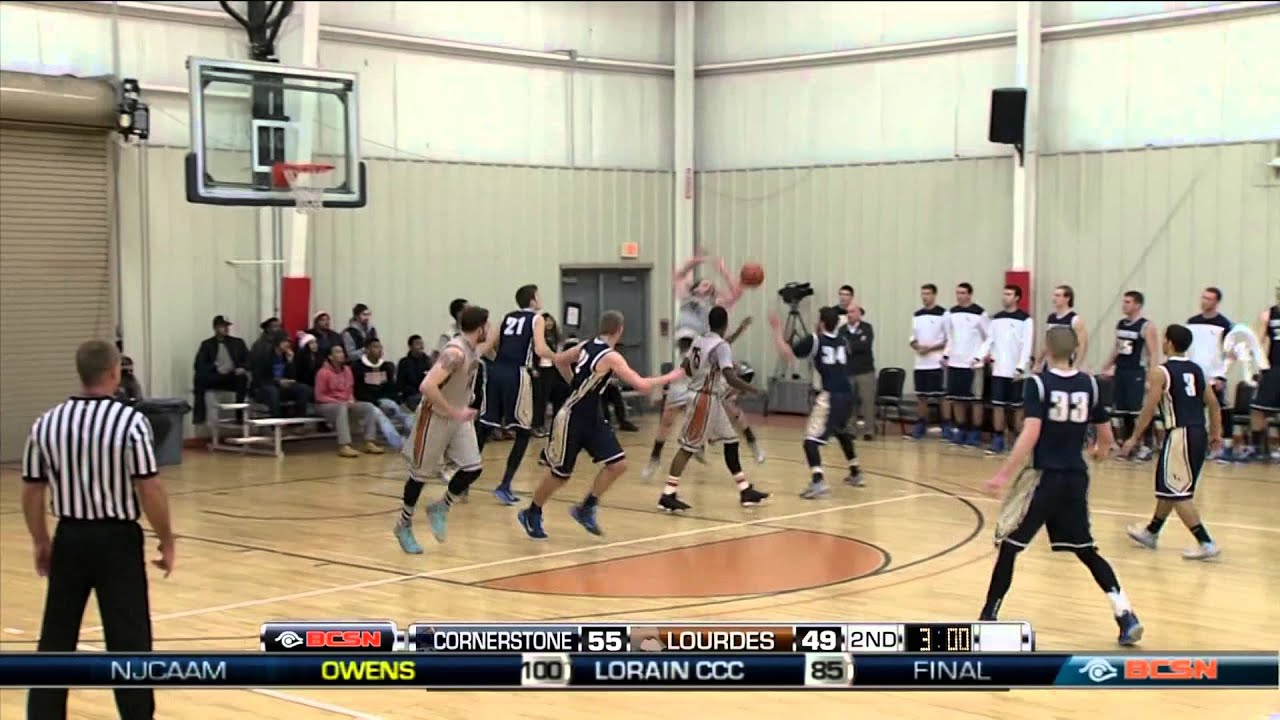 Cornerstone vs Lourdes Mens College Basketball - YouTube