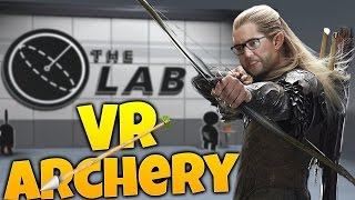 the lab gameplay the mighty draegolas longbow slingshot minigames the lab by valve