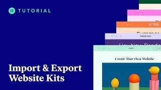 How to Import aฑd Export Elementor Websites