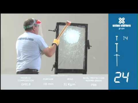 Testing safety glass Protek GPlus