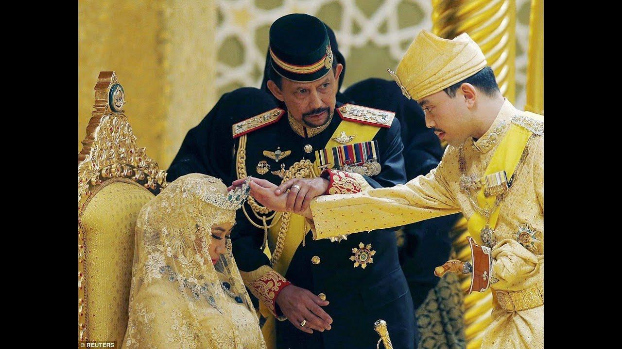 Gold Wedding Sultan Of Brunei S Son Prince Abdul Malik Married With Dayangku Raabi Atul