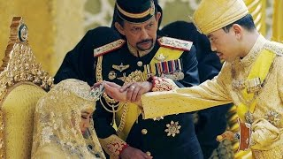 GOLD wedding: Sultan of Brunei