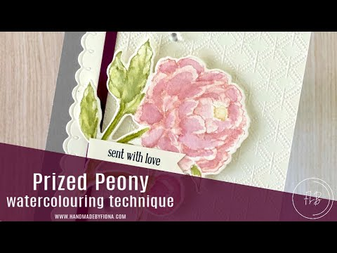Watercolour Technique Tutorial With Prized Peony Stamp Set - Stampin' Up!