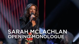 Sarah McLachlan delivers the Junos 2019 Opening Monologue