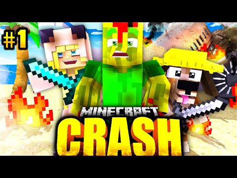 ISY, FLO & BILLY im FLUGZEUG ABSTURZ?! - Minecraft CRASH #01 [Deutsch/HD]