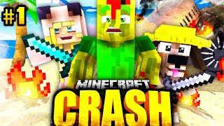 ISY, FLO & BILLY im FLUGZEUG ABSTURZ?! - Minecraft CRASH #01 [Deutsch/HD]