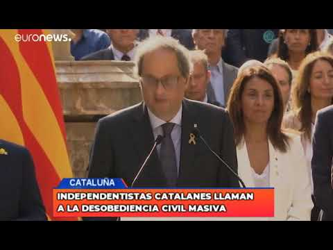 Independentistas catalanes llaman a la desobediencia civil masiva