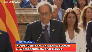 Independentistas catalanes llaman a la desobediencia civil masiva