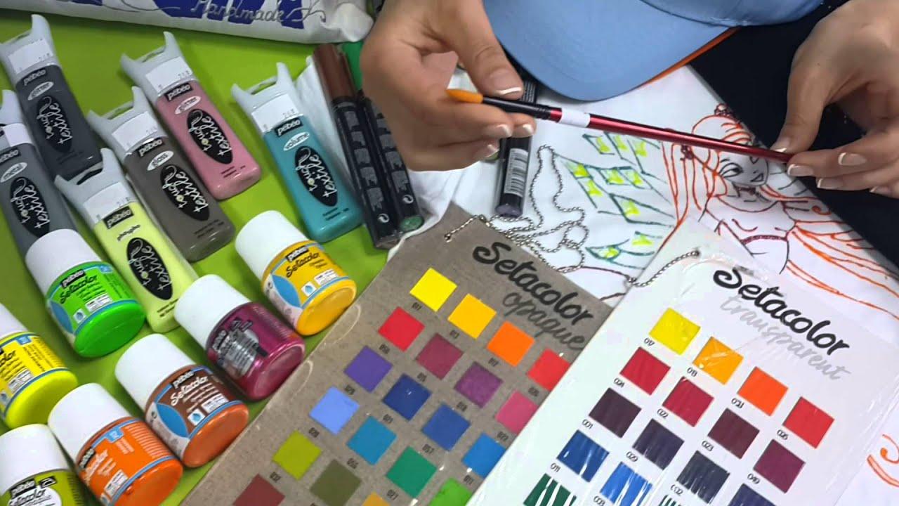 Акриловые краски по ткани от ООО ТАИР - YouTube