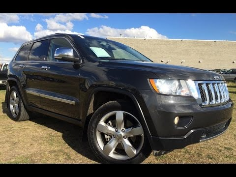 pre owned dark grey 2011 jeep grand cherokee 4wd overland review wetaskiwin alberta youtube. Black Bedroom Furniture Sets. Home Design Ideas