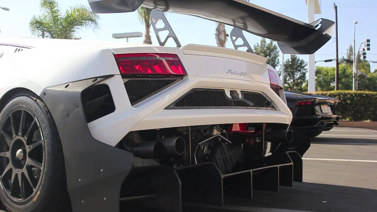 Lamborghini Gallardo Super Trofeo Start Up, Idle, And Throttle Blips At  Lamborghini Newport Beach   YouTube