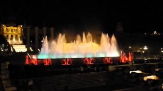 Поющие фонтаны Монтжуика.(Видео снято в столице Каталонии Барселоне на Площади Испании, в декабре 2012 года. Гора Монтжуик., 2015-01-25T09:42:29.000Z)