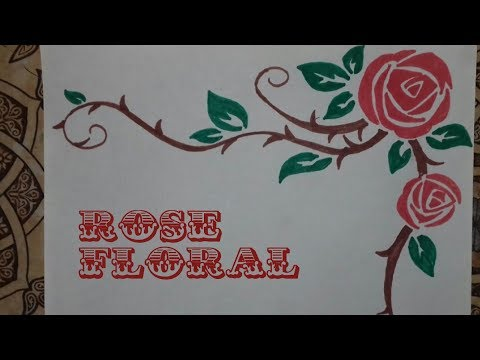 Decorative Corner Floral Design / Beautiful Rose Designs / creative craft art