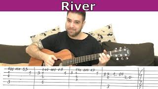 Fingerstyle Tutorial: River (Joni Mitchell) - Guitar Lesson w/ TAB   LickNRiff