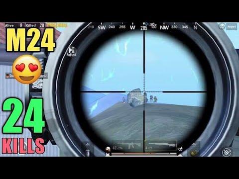 Squad Kill With M24 | 24 Kills Vs Squad | PUBG Mobile