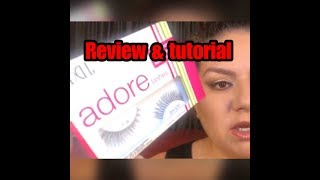 ADORE LASHES BY ARDELL REVIEW & TUTORIAL