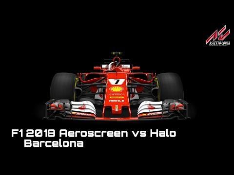 F1 2018 Halo vs. Aeroscreen in Barcelona (Assetto Corsa)