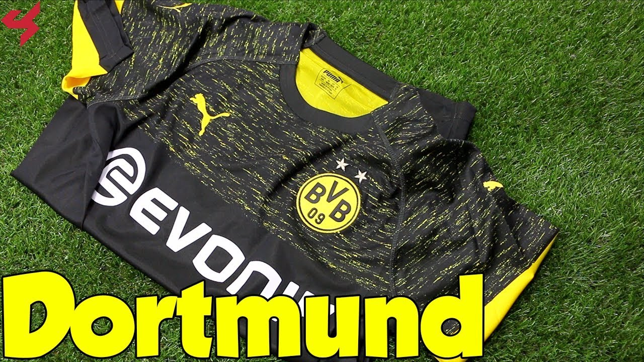 3845f9f2cc9 Puma Borussia Dortmund 2018 19 Away Jersey Unboxing + Review - YouTube