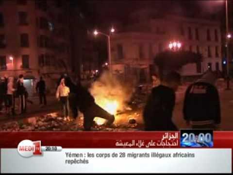 emeutes du 5 janvier 2011 en algerie medi 1 sat