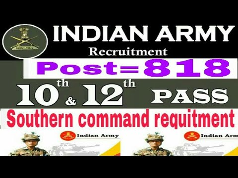 Indian army Southern Command Recruitment 2018 – Apply Online for 818 LDC, Tradesman ...