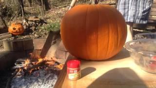 Cooking Inside A Pumpkin!