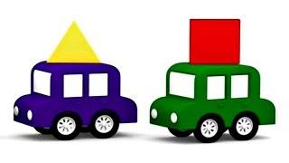 Lehrreicher Zeichentrickfilm - Die 4 kleinen Autos  - Geometrische Formen
