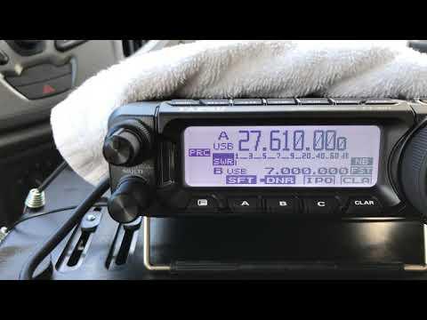 Yaesu FT-891 on 11 meters 27mhz