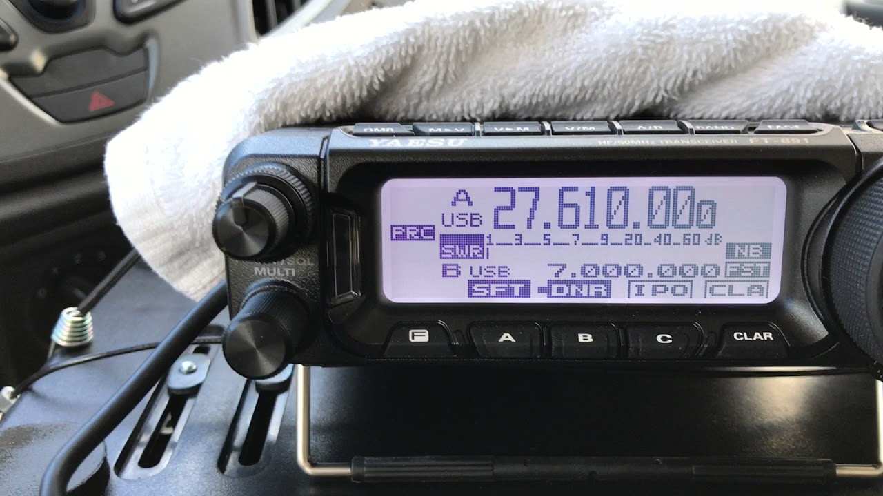 Yaesu FT-891 on 11 meters 27mhz