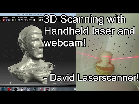 3D Scanning with Handheld Laser and Webcam - DAVID Laserscanner v3