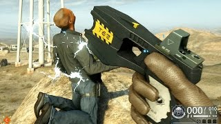 Battlefield HardLine TASER Gun Montage Ultra 60fps GTX 970