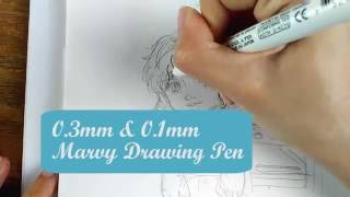 How to draw with pen - Baking Cookies: Speed Inking Drawing