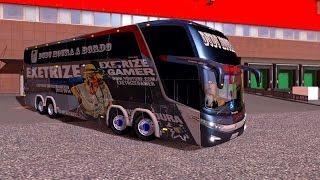 ÔNIBUS do DUDU MOURA!! COMO JOGAR o Euro Truck Simulator 2 - MAPA EAA BUS V1.01l ► Logitech G27
