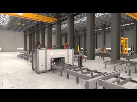 3D-Animation - Flythrough of a Steel factory